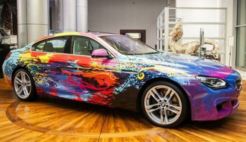 BMW 650i Gran Coupe art car is a sheer mess of colors