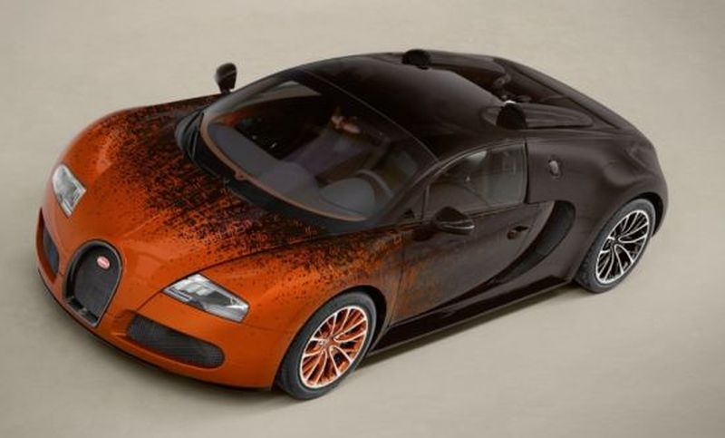 Bugatti Veyron Grand Sport Venet art car coming to Art Basel Miami Beach