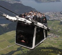 The Cabrio: World's first open air double-decker cable car from Switzerland