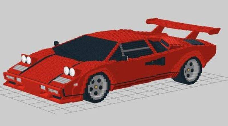 German artist re-imagines Lamborghini Countrach with Lego Bricks