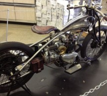 Party friendly Flint Custom Motorbike features Angelo's ashtray, dispenses shots