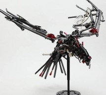David Zimberoff's bike parts sculptures are out of priory into a class