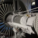 Trent 1000 engine replica in lego