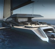 UltraLuxum CXL: The world's biggest cruising Trimaran parks McLaren MP4 inside