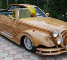 One-of-a-kind oak wood made car lends on eBay