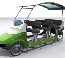 Freewheelin pedal powered Bus makes healthy things fun, fun things healthy