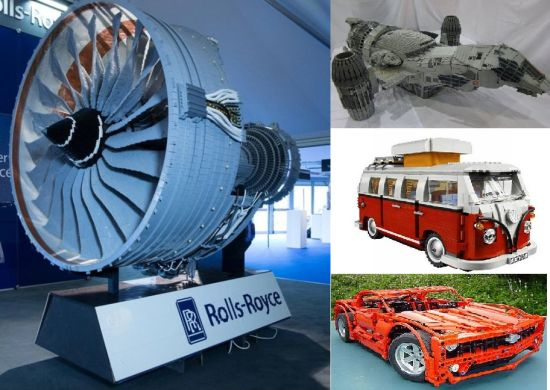 Lego Rolls Royce Trent 1000 replica
