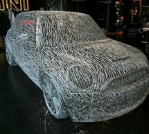 Artist nails full size Mini Cooper S sculpture from 7000 nails