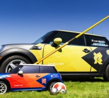 RC Mini MINI Cooper to retrieve thrown equipments at London Olympics