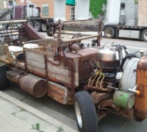 This wooden car is a sheer gory mess