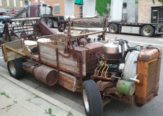 Weird wooden car