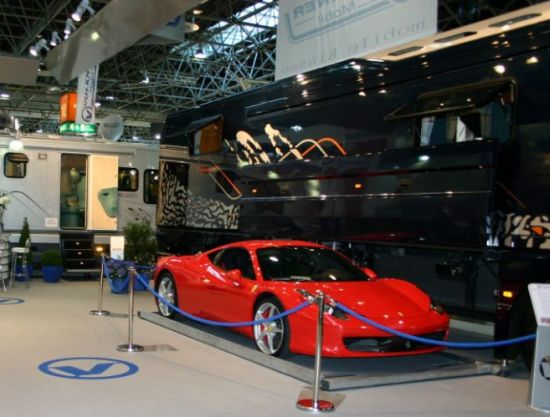 12million Ultra luxurious Volkner Mobil bus parks your supercar