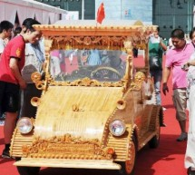 Wooden electric cars from 2012 China-Eurasia Expo