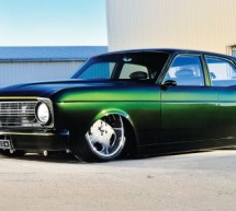 Ford XR Falcon based ZERO'D muscle car from recycled parts is green inside and out