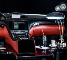 Artist creates Mercedes Benz aura by converting SL into workstation