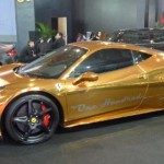 Gold plated Ferrari 458 Italia 2