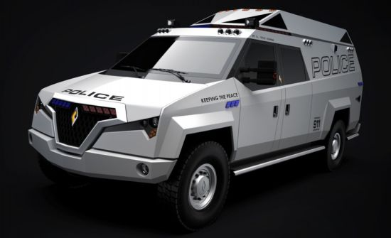 Carbon TX7 police vehicle