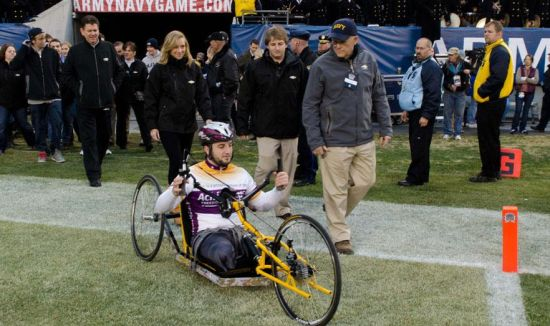 Chevy, Michigan Tech hand cycle for war veterans