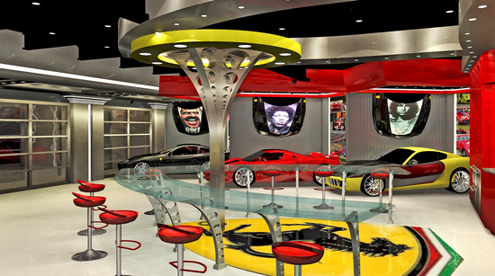 Ferrari themed garage 4