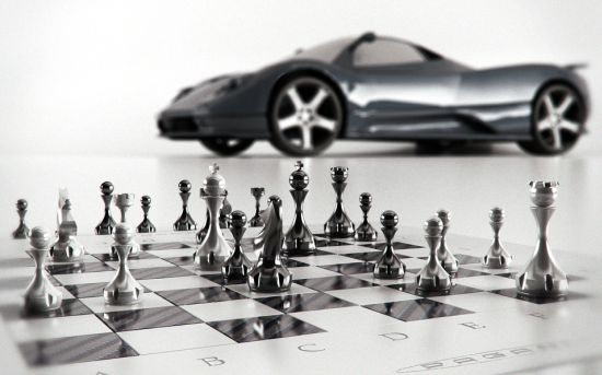 Pagani Zonda chess set 2