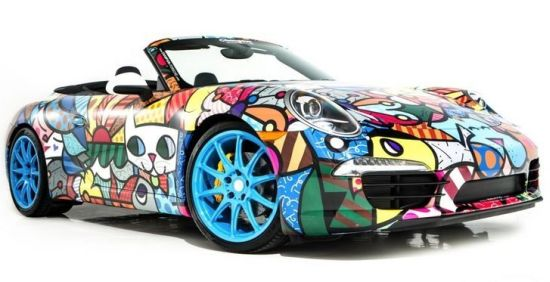 Romero Britto Porsche 911 art car