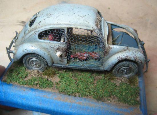 Volkswagen beetle chicken Poop 9