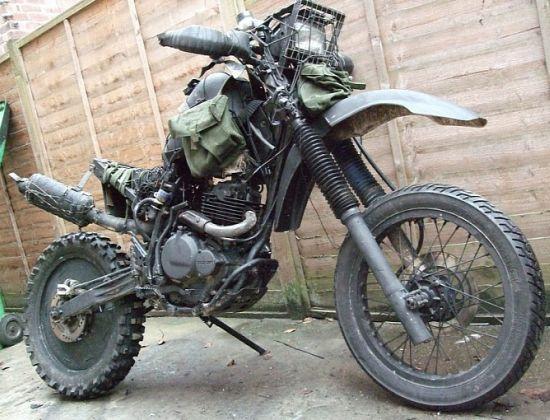 Suzuki DR350 based Grabenratte ratbike  2