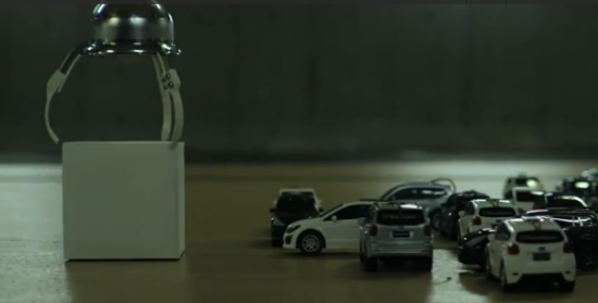 subaru-mini-cars to demonstrate eyesight  1