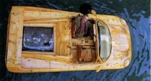 Livio De Marchi's wooden Ferrari F50 boat 2