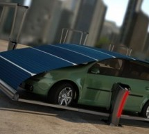 V-Tent – A solar powered parking space to keep electric cars safe, charged up