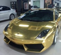 China loves Italian bulls and gold; another gold plated Lamborghini Gallardo spotted