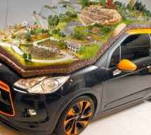 Citroen's unique Diorama on real DS3 celebrates nine World Rally Championship titles