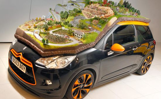 Citroen's unique Diorama on real DS3