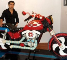 20,000 Candies make full size, sweetest Candy Motorbike ever