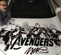 Humberto Ramos' Avengers Artwork on Acura TL makes it a rolling piece of art