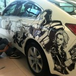 Humberto Ramos' Avengers Artwork on Acura TL  3