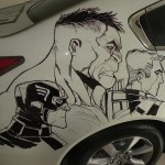 Humberto Ramos' Avengers Artwork on Acura TL 4