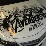 Humberto Ramos' Avengers Artwork on Acura TL  8
