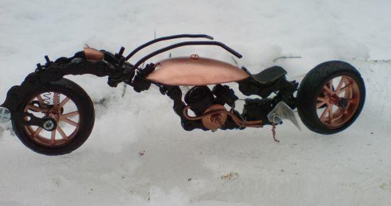Scale souvenir motorbike models 16