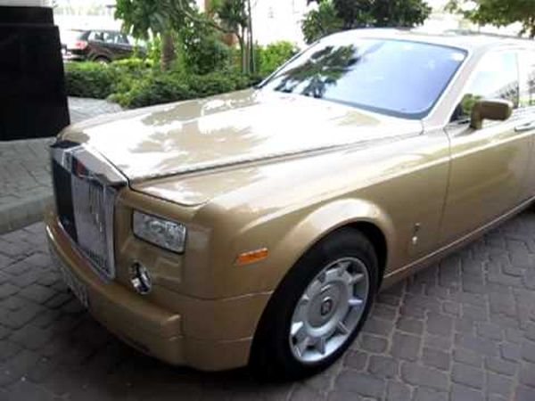 Rolls Royce Phantom Gold edition