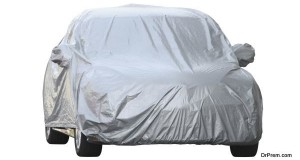 Car cover (with clipping path) isolated on white background