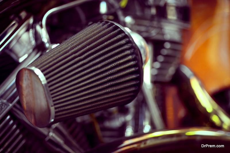 clean air filter of bike