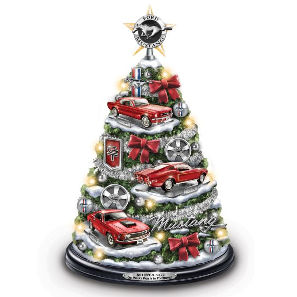Illuminated Ford Mustang Christmas Tree