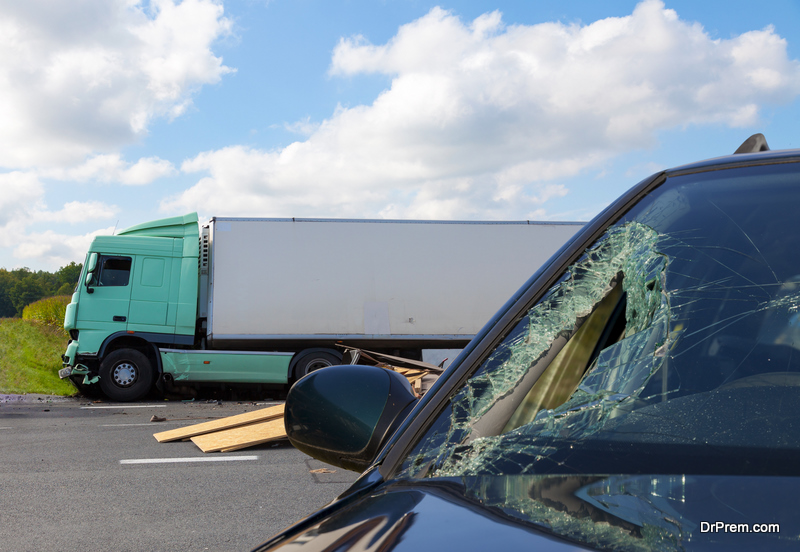 Accident during car Transportation