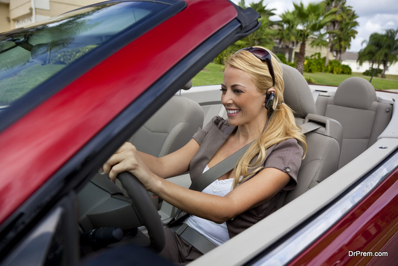 Businessbusiness-woman-in-convertible-vehicle