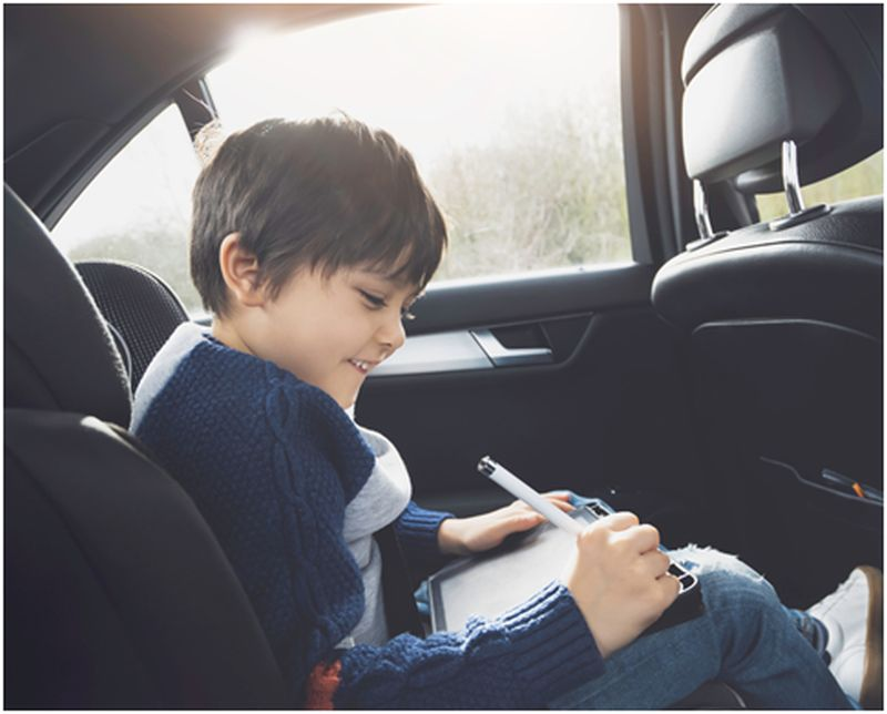 boy involved in Screen-Free Activity