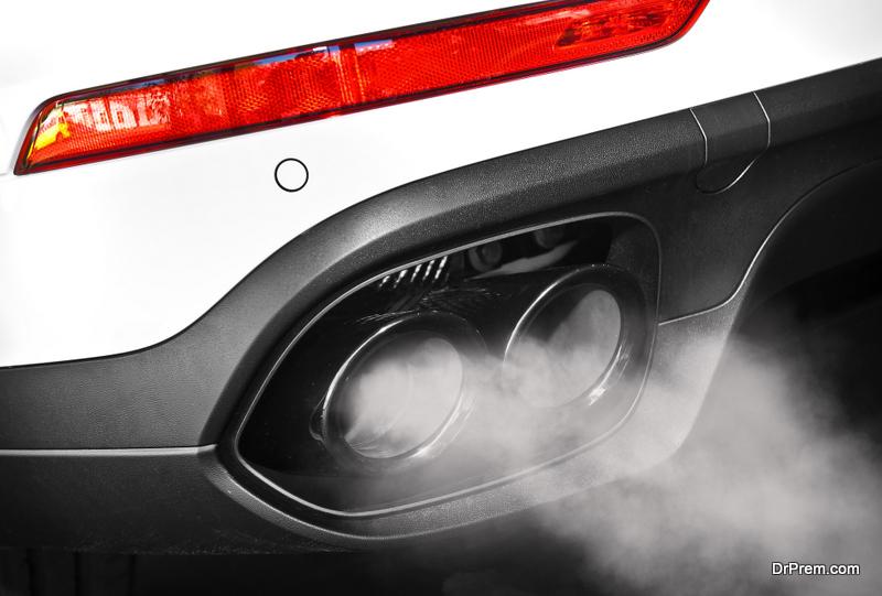 car dual exhaust pipe